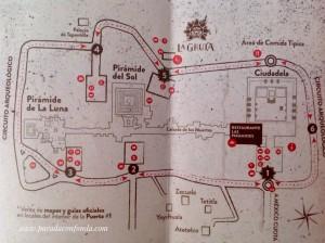 Restaurante La Gruta. Teotihuacán. Plano situación